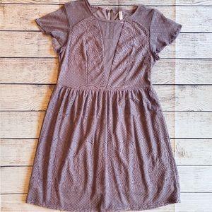 3/$20 Xhilaration Dress Lavender Lace Mesh